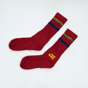 Nike SB - Crew Skateboarding Socks - Red / Yellow / Blue
