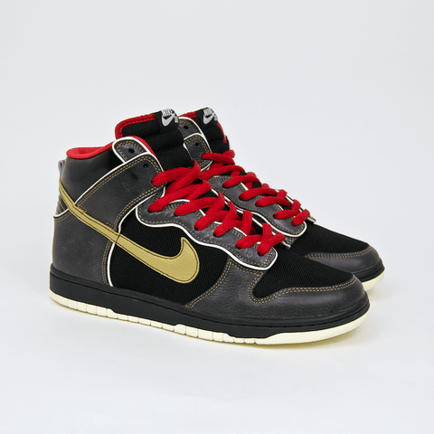 Nike SB - Dunk High Premium SB 'Marshall Amp' Shoes - Black / Metallic Gold