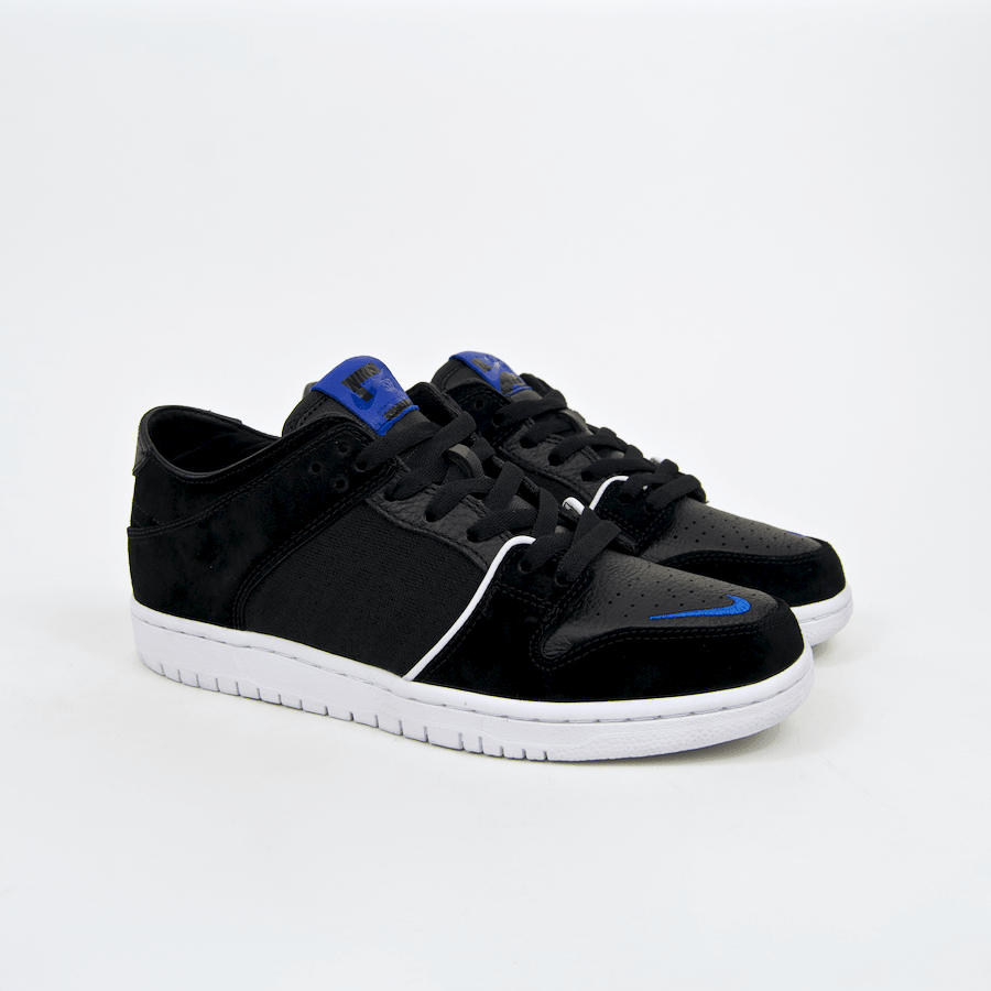 Nike SB - Dunk Low Pro QS (Decon x Soulland) Shoes - Black / Game Royal-White