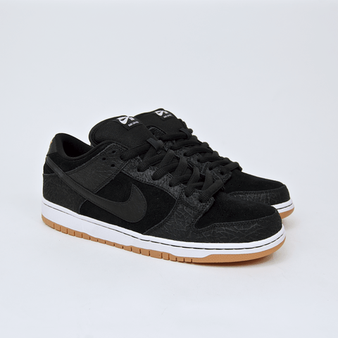 Nike SB - Dunk Low Pro SB 'Nontourage' Shoes - Black / Black - White - Gum Medium Brown