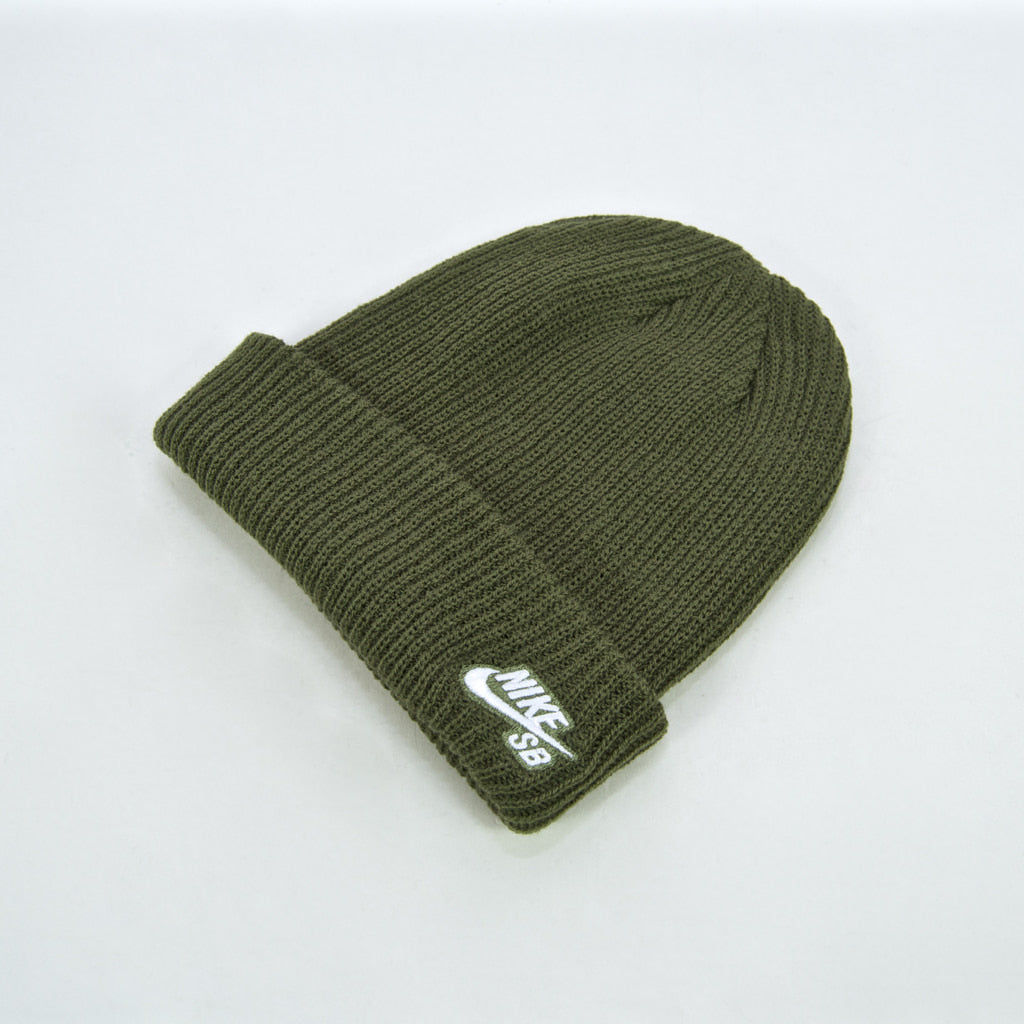 Nike SB - Fisherman Beanie - Medium Olive / White