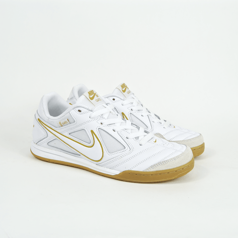 Nike SB - Gato Shoes - White / Metallic Gold / Gum