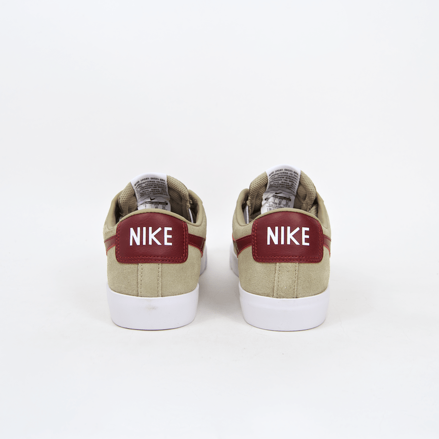 Nike SB - Grant Taylor Blazer Low Shoes - Bamboo / Team Red / White