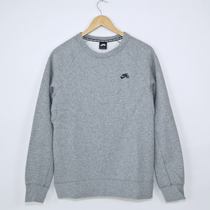 Nike SB - Icon Crewneck Sweatshirt - Dark Grey Heather / Black