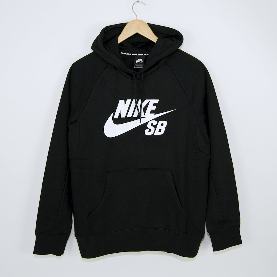 Nike SB - Icon Pullover Hooded Sweatshirt - Black / White