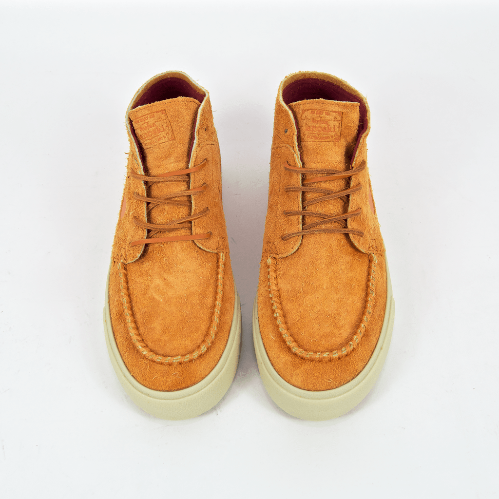 Nike SB - Janoski Mid Crafted Shoes - Cinder Orange / Team Gold