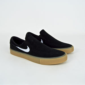 Nike SB - Janoski Slip-On Shoes - Black / White / Gum
