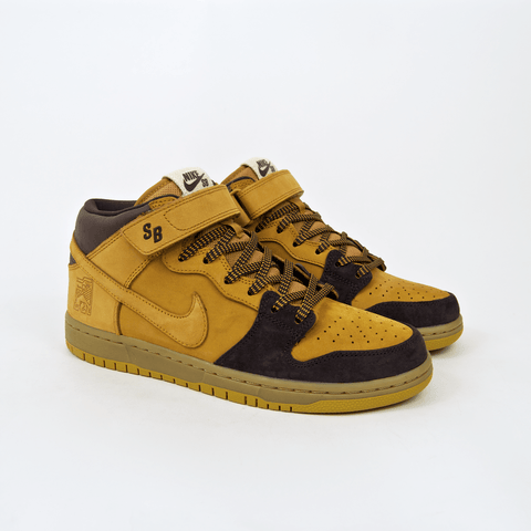 Nike SB - Lewis Marnell Dunk Mid Pro QS Shoes - Cappuccino / Bronze / Wheat