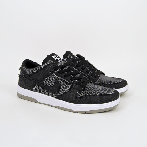 Nike SB - 'Medicom' Dunk Low Elite QS Shoes - Black / Black - White - Medium Grey