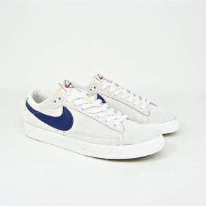 Nike SB x Polar Skate Co. - Zoom Blazer Low GT QS Shoes - Summit White / Deep Royal Blue