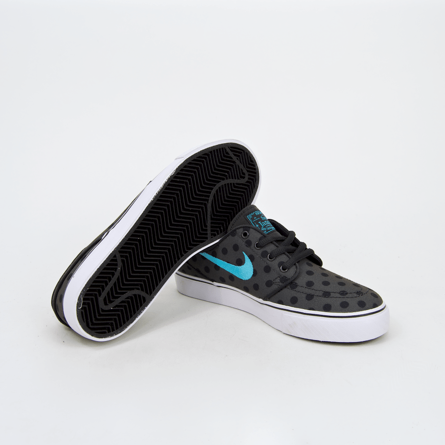 Nike SB - KIDS Stefan Janoski Premium Canvas Shoes (GS) - Anthracite / Clearwater / Black