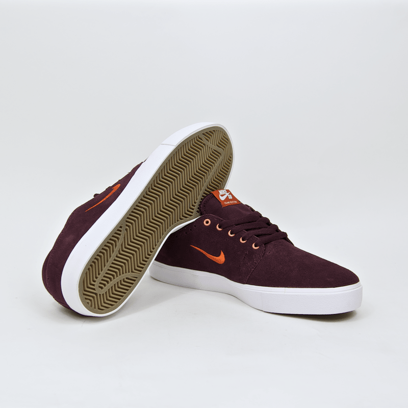 Nike SB - Team Edition 2 Shoes - Red Mahogany / Dark Orange - Gum Dark Brown