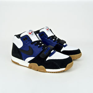 Nike SB x Polar Skate Co. - Air Trainer 1 QS Shoes - Black / Black - Deep Royal Blue - Summit White