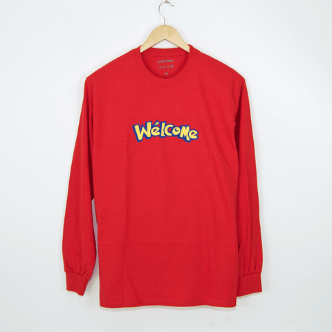 Welcome Skate Store - No-Go Longsleeve T-Shirt - Red