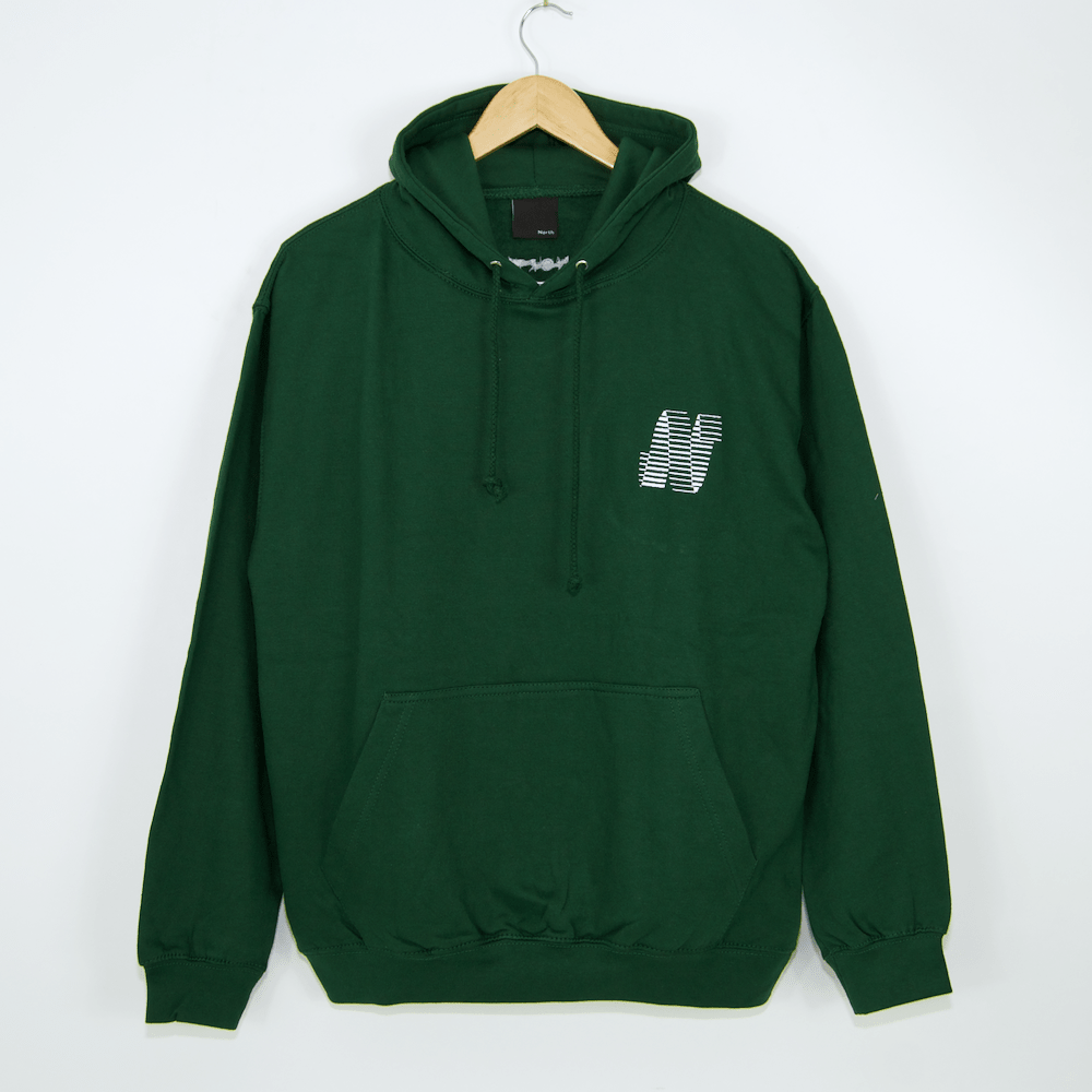 North Mag - N Logo Pullover Hooded Sweatshirt - Forest Green