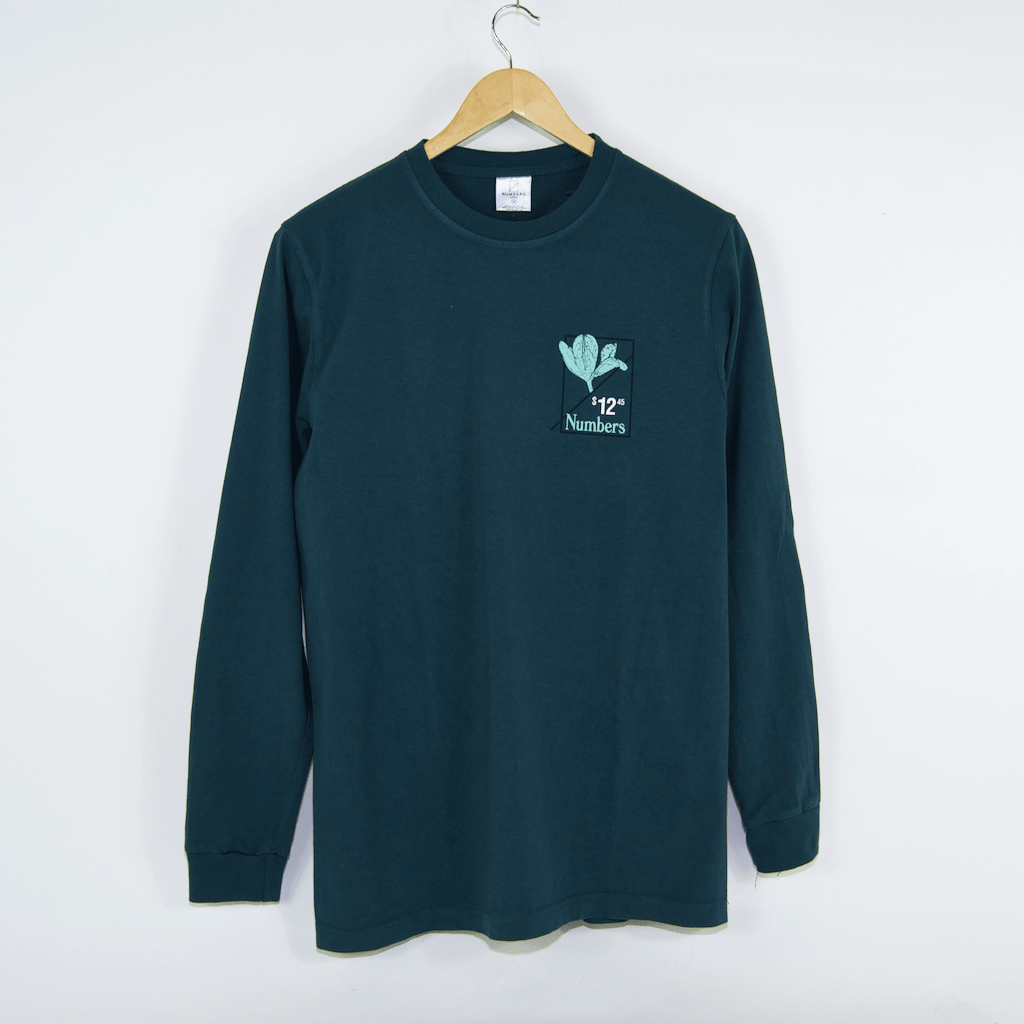 Numbers Edition - Flower of Love Longsleeve T-Shirt - Deep Teal