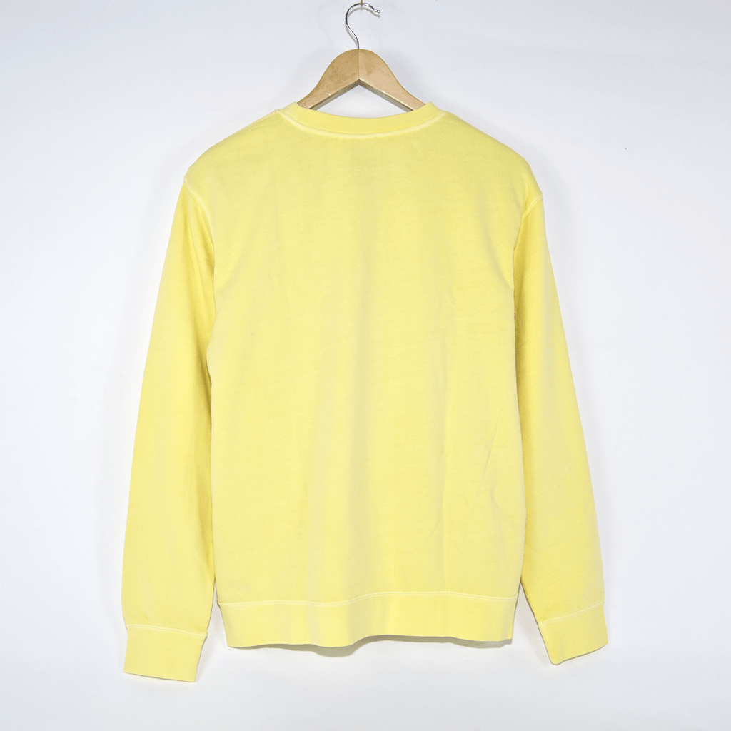 Pass Port - Icy Hot Puff Pigment Dyed Crewneck Sweatshirt - Yellow