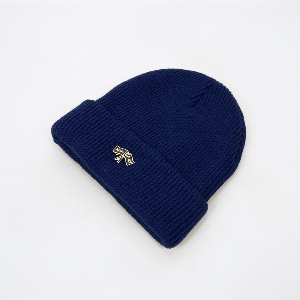 Pass Port Skateboards - Flags Pin Beanie - Navy
