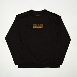 Pass Port Skateboards - International Embroidered Crewneck Sweatshirt - Black