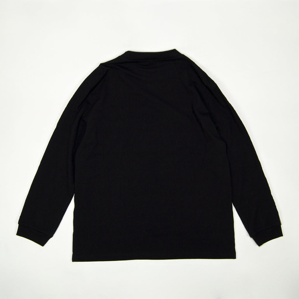Pass Port Skateboards - International Embroidery Ribbon Longsleeve T-Shirt - Black