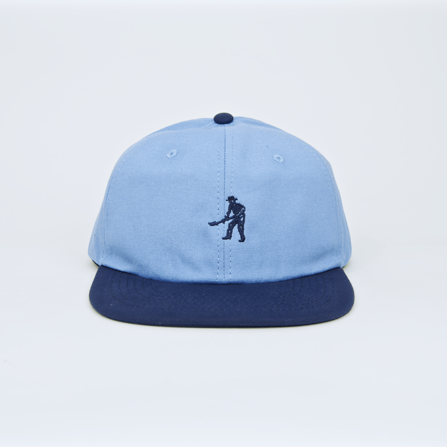Pass Port Skateboards - Workers Tonal 6 Panel Cap - Blue