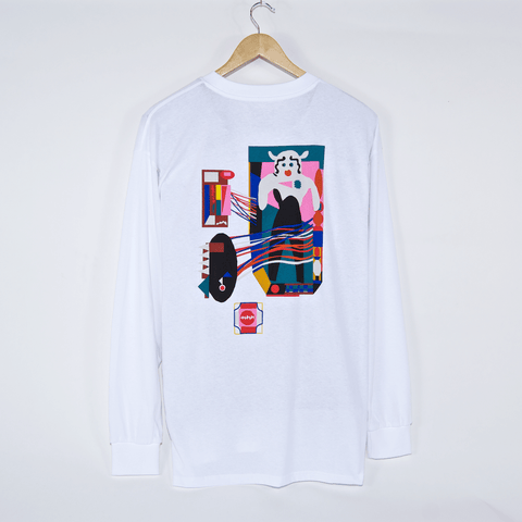 Polar Skate Co. - Frequency Longsleeve T-Shirt - White