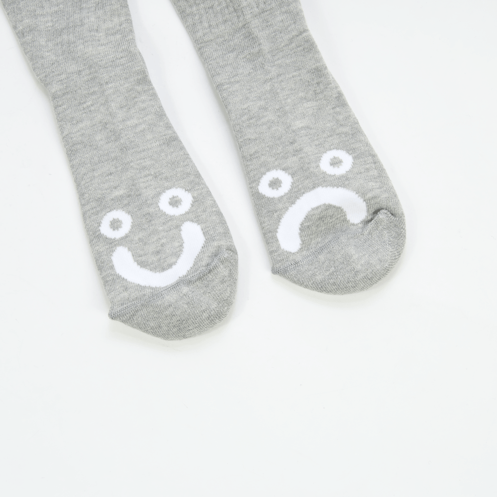 Polar Skate Co. - Happy Sad Classic Socks - Heather Grey