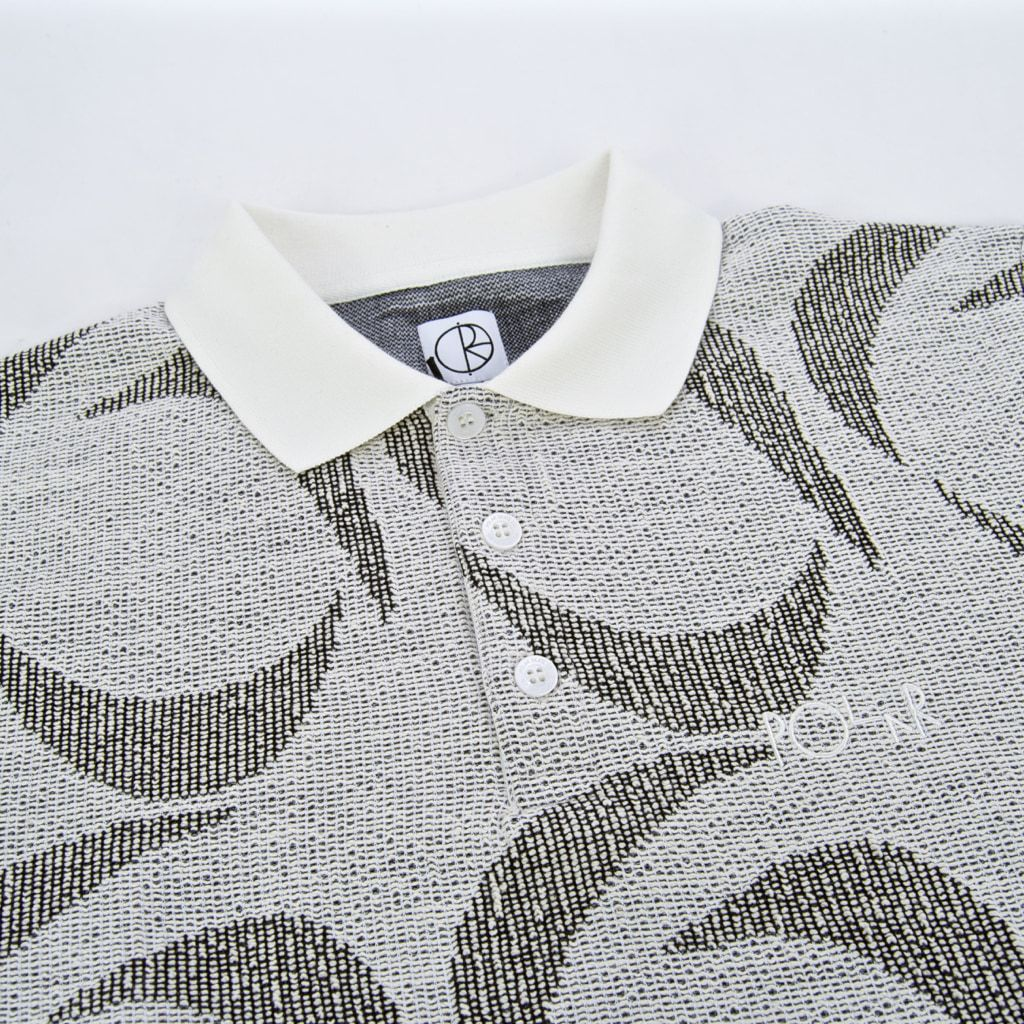 Polar Skate Co. - Patterned Polo Shirt - Ivory / Black