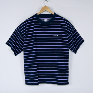 Polar Skate Co. - Striped Terry Surf T-Shirt - Navy / Violet