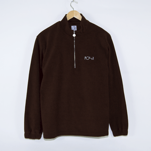 Polar Skate Co. - Terry Zip Longsleeve Mockneck - Brown