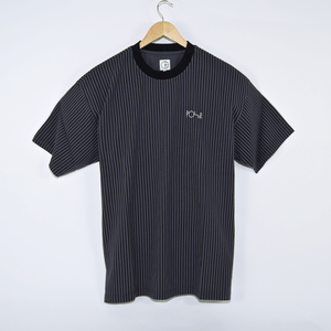 Polar Skate Co. - Vertical Stripe T-Shirt - Black