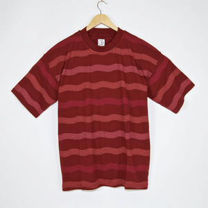 Polar Skate Co. - Wavy Surf T-Shirt - Brick Red