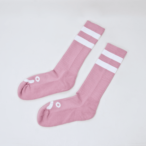 Polar Skate Co. - Happy Sad Classic Socks - Dusty Rose