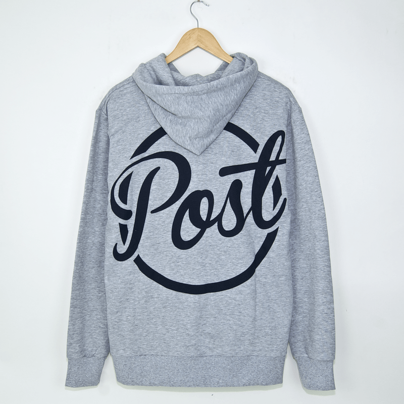 Post Details - Ball Back Half Zip Hooded Sweatshirt - Heather Grey