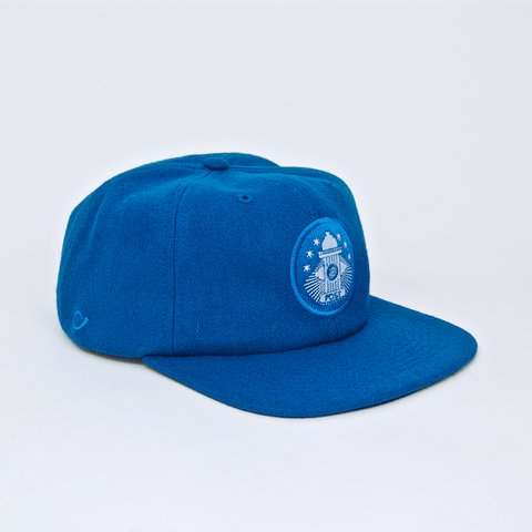Post Details  - Six Panel Hydrant Patch Cap - Aqua