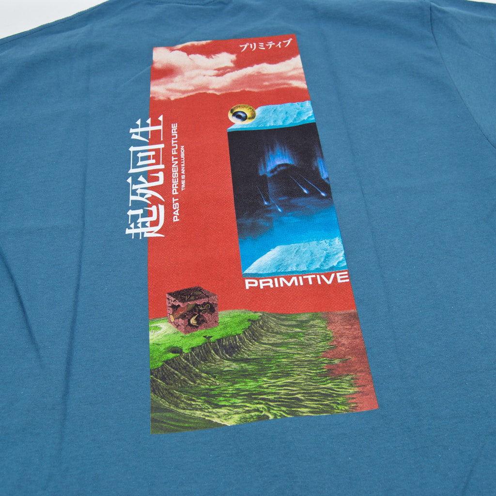 Primitive Skateboarding - Illusion T-Shirt - Slate Blue