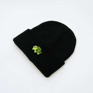 RWTB - Vertical Turtle Beanie - Black