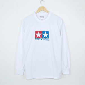Welcome Skate Store - Racing Longsleeve T-Shirt - White