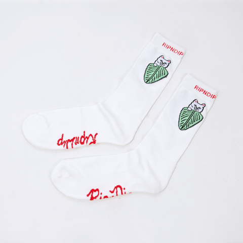 Rip N Dip - Nermal Leaf Socks - Off White