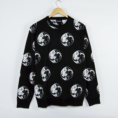 Rip N Dip - Nermal Yang Knitted Sweatshirt - Black
