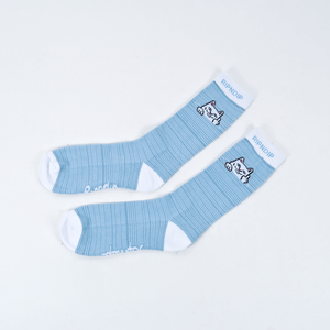 Rip N Dip - Peeking Nermal Socks - Baby Blue / White