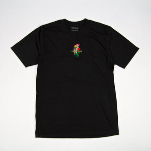 Welcome Skate Store - Rose Embroidered T-Shirt - Black