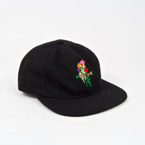 Welcome Skate Store - Rose Embroidered Wool Cap - Black