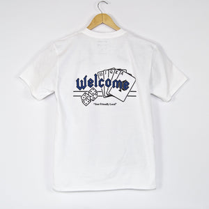 Welcome Skate Store - Royal T-Shirt - White