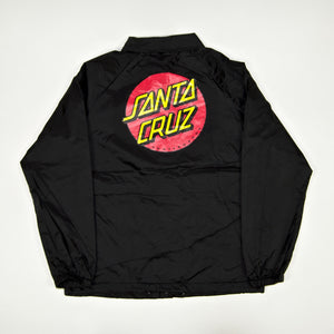 Santa Cruz - Classic Dot Coach Jacket - Black