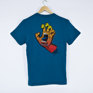 Santa Cruz - Fade Hand T-Shirt - Ink Blue