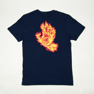 Santa Cruz - Flame Hand T-Shirt - Dark Navy