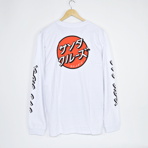 Santa Cruz - Japanese Dot Longsleeve T-Shirt - White
