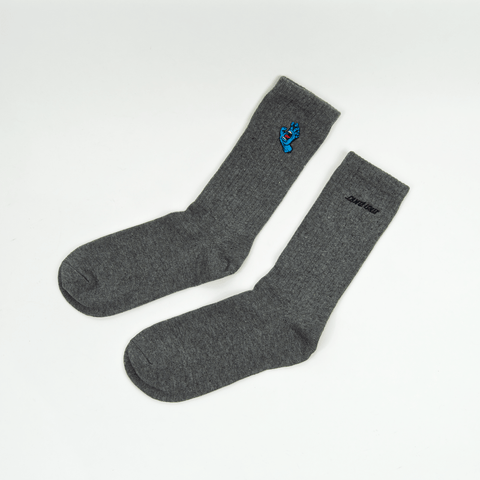 Santa Cruz - Mini Screaming Hand Socks - Dark Heather