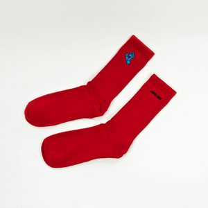 Santa Cruz - Mini Screaming Hand Socks - Deep Red